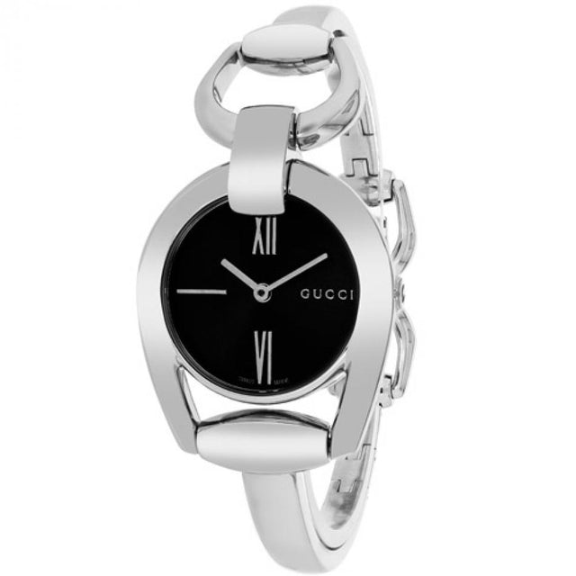 Gucci Horsebit Women's  Black Mother Of Pearl Dial Stainless Steel WatchYA139503
