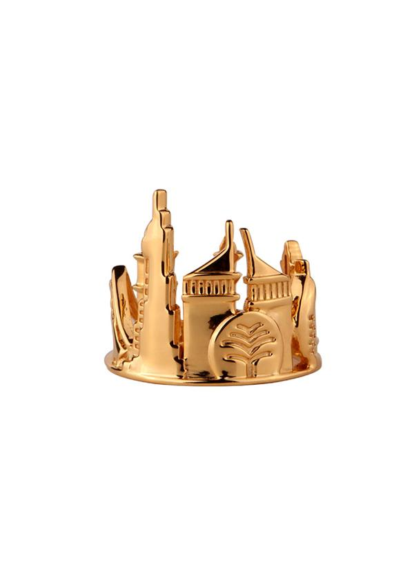 Dubai Sterling Silver Ring - Gold Plated