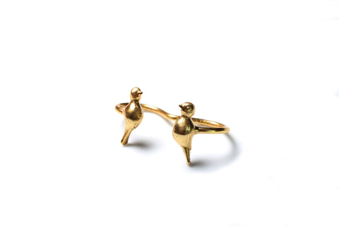 Artsie Ville-Dual Birds Ring