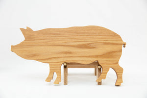 "Pig Shaped Cutting Board~17.5"" x 8.75"" x 1"""