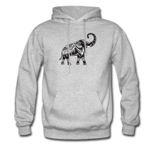 Men's Hoodie- Good Luck Elephant - heather gray