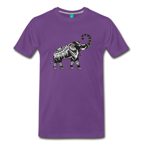Good Luck Elephant T-Shirt - purple