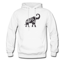 Men's Hoodie- Good Luck Elephant - white