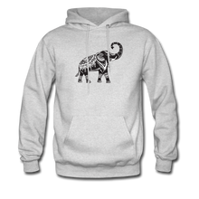 Men's Hoodie- Good Luck Elephant - ash