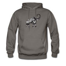Men's Hoodie- Good Luck Elephant - asphalt
