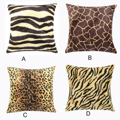 Animal Zebra Leopard Print Pillow Case Sofa Waist