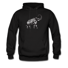 Men's Hoodie- Good Luck Elephant - black