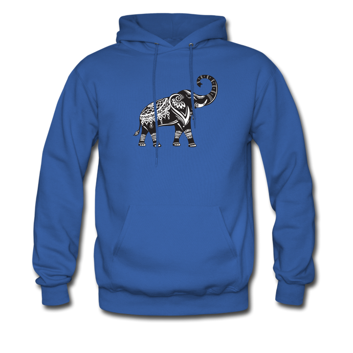 Men's Hoodie- Good Luck Elephant - royal blue