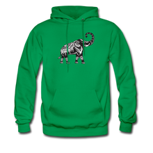Men's Hoodie- Good Luck Elephant - kelly green