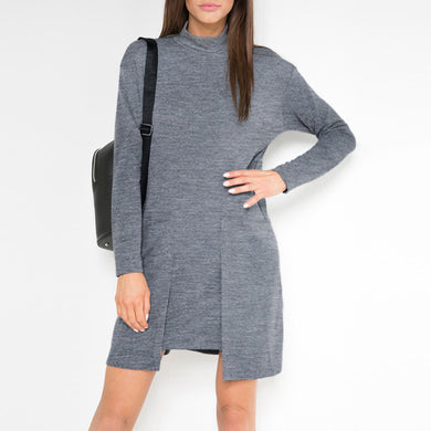 Women: Grey Skater Dress