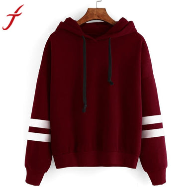Women: Striped Long Sleeve Hoodie