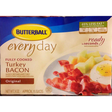 Butterball Fully Cooked Turkey Bacon