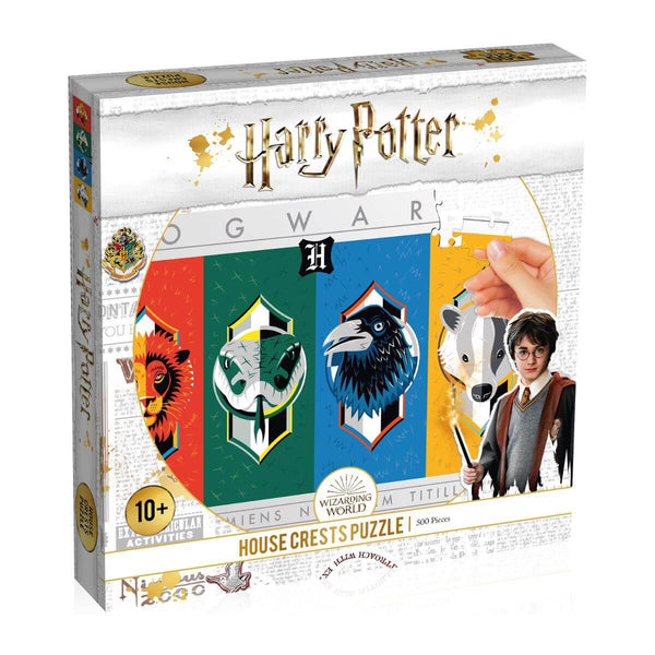 Harry Potter House Crests 500 Piece Jigsaw Puzzle - Top Trumps USA