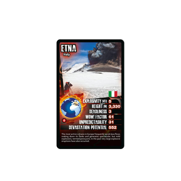 Volcanoes Top Trumps - Top Trumps USA