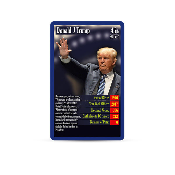 US Presidents Top Trumps - Top Trumps USA