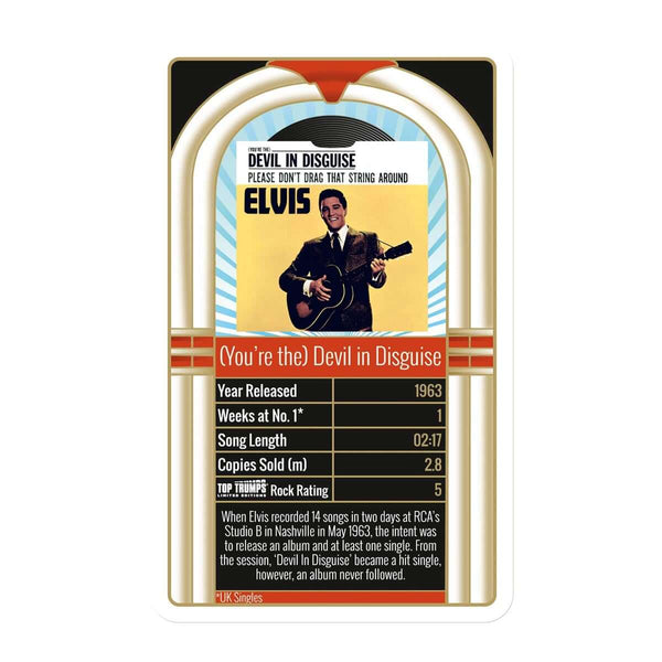 Elvis Presley: 30 Greatest Singles Top Trumps Card Game - Top Trumps USA