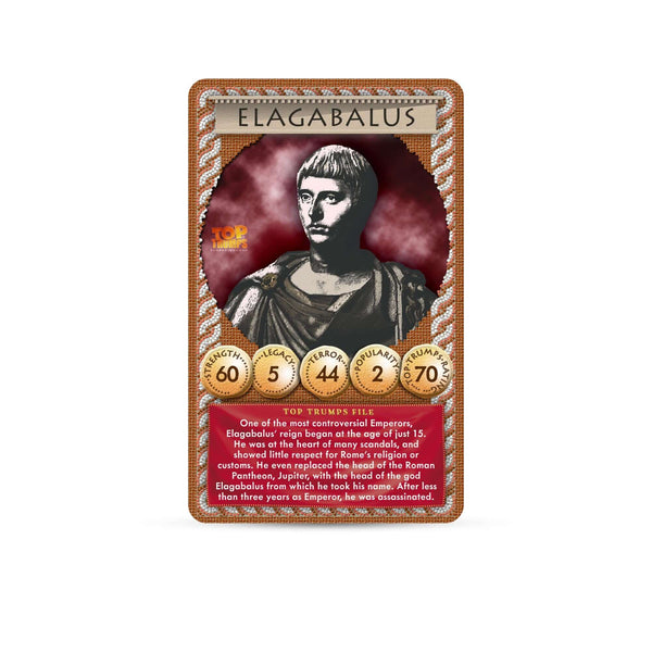 Ancient Rome Gods & Emperors Top Trumps Card Game - Top Trumps USA