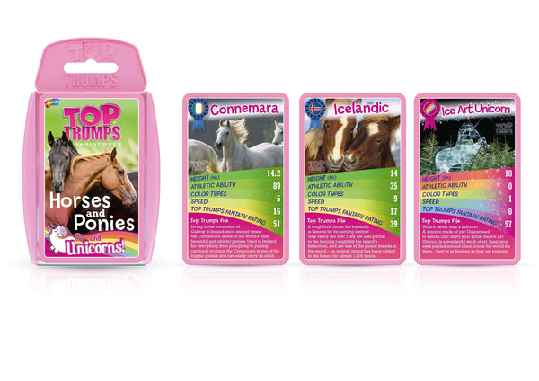 Horses, Ponies and Unicorns Top Trumps - Top Trumps USA