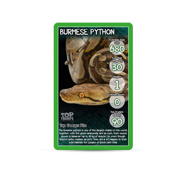Snakes Top Trumps