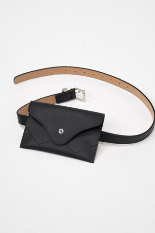 Buckle belt bag in black
