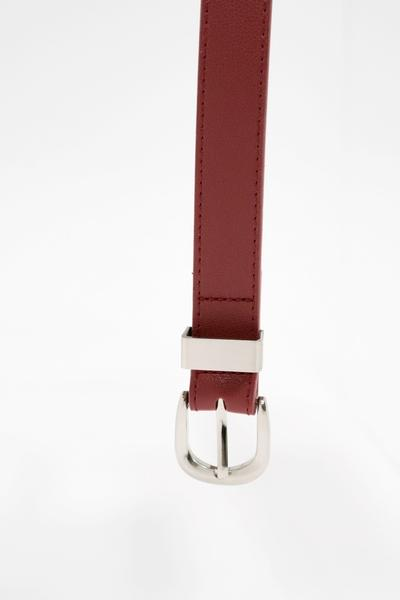 Buckle belt bag in red - belt