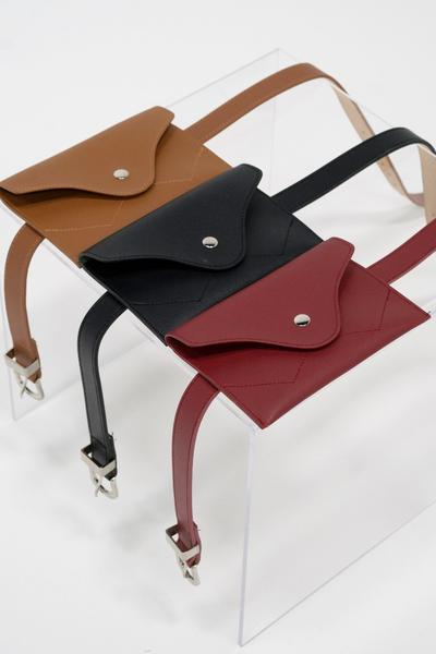 Buckle belt bag in tan - available in a variety of colours