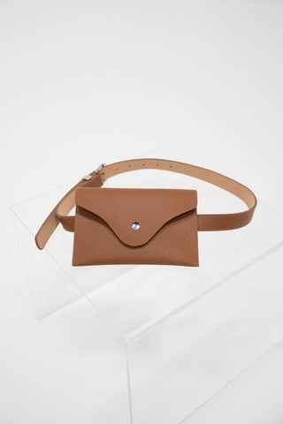 Buckle belt bag in tan