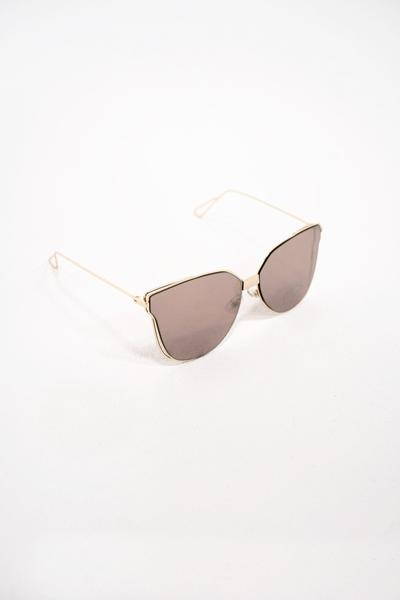 South Beach rose gold cat eye sunglasses