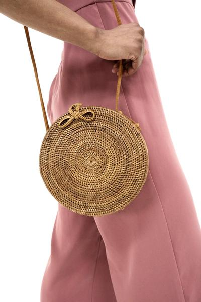 Street Level Bags round cross body basket bag