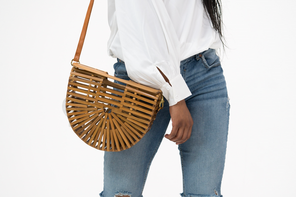 Street Level Bags wooden ark bag - bamboo bag
