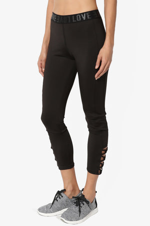 Reign Cutout Crop Leggings - TheMogan