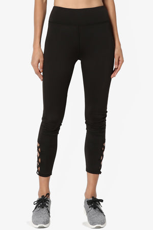 Levy Cutout Crop Leggings - TheMogan