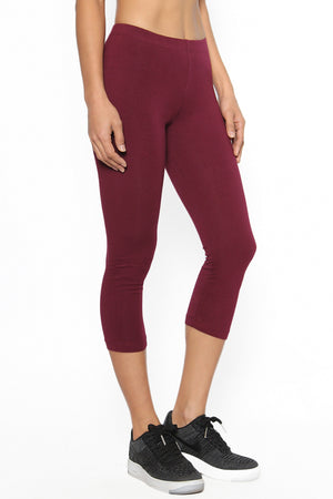 Pliner Cotton Capri Leggings - TheMogan