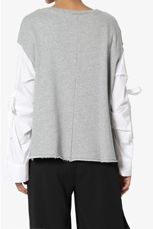 Belynda Tie Sleeve Sweatshirts - TheMogan