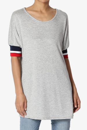 Strom Stripe Cuff Short Sleeve Tee - TheMogan