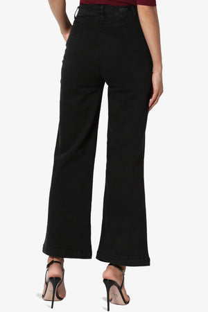 Nellie High Waist Crop Culotte Jeans - TheMogan