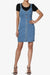 Esplash Button Front Denim Mini Dress - TheMogan