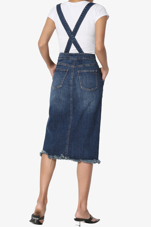 Ieria Suspender Denim Skirt - TheMogan