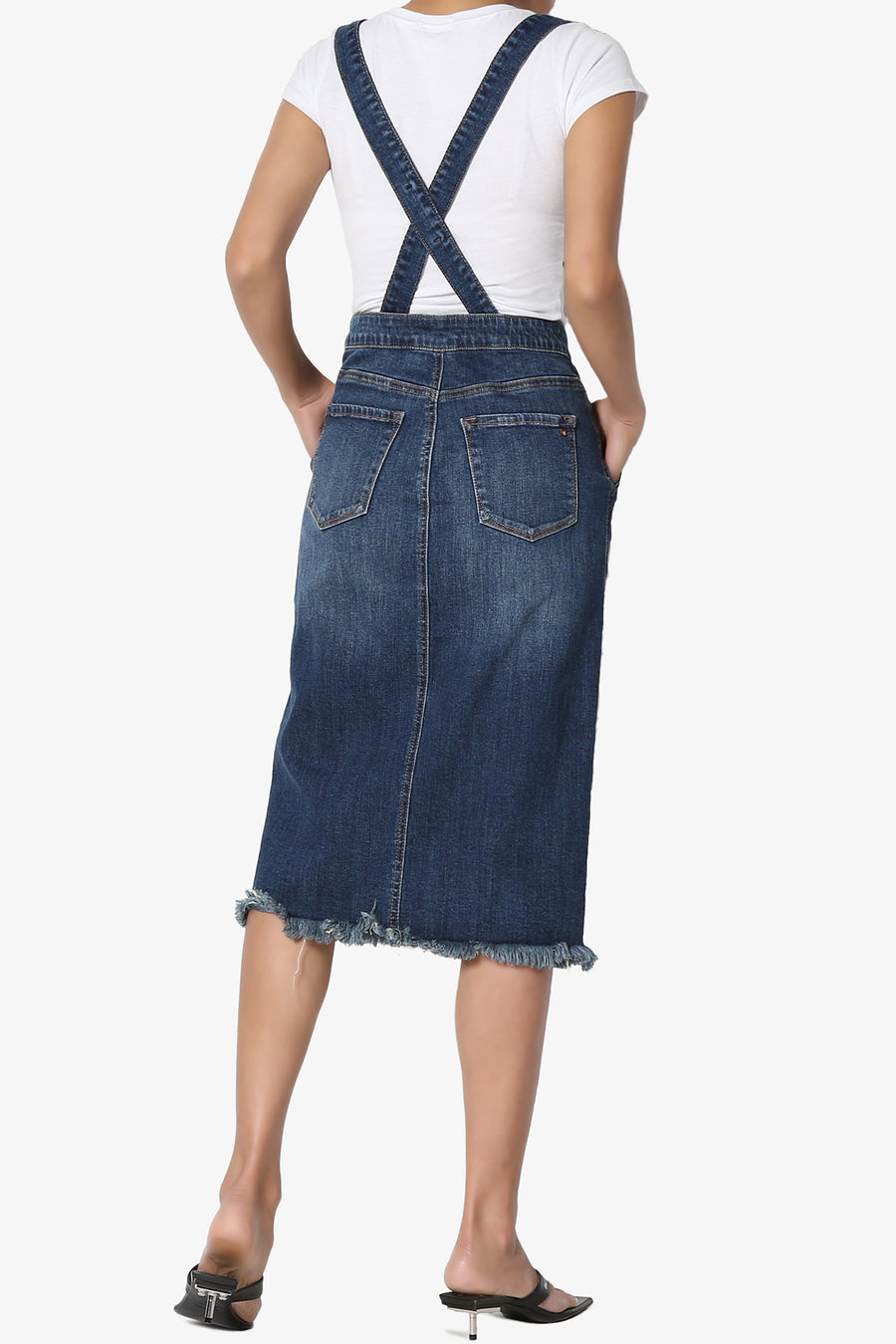 Ieria Suspender Denim Skirt