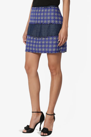 Fluffette Tweed Check Mini Skirt - TheMogan
