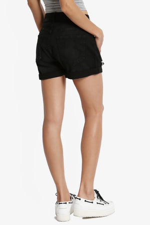Parigi Distressed Boyfriend Shorts - TheMogan