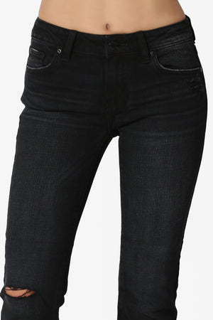Encore Black Crop Bootcut Jeans - TheMogan