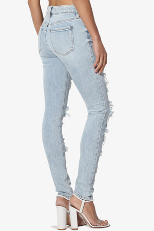 Jude Ripped Mid Rise Ankle Skinny Jeans - TheMogan