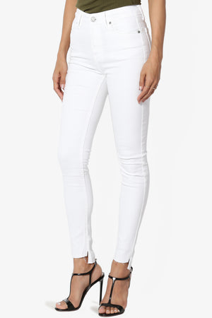 Lemur High Rise Step Hem Skinny Jeans - TheMogan