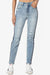 Viale Stripe Slim Mom Jeans - TheMogan