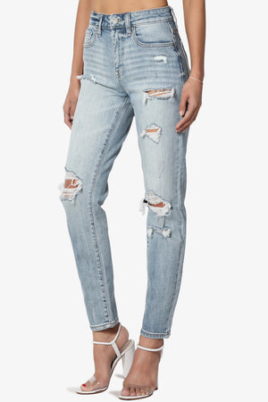 Tobi Super High Rise Mom Crop Jeans - TheMogan