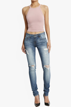 Sophie Distressed Wash Skinny Jeans - TheMogan
