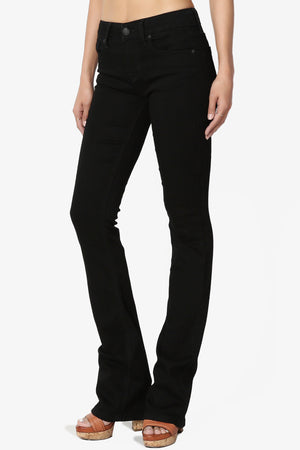 Damas Black Slim Fit Bootcut Jeans - TheMogan