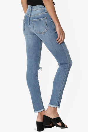 Merana Destructed Cropped Jeans - TheMogan