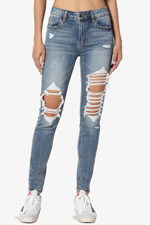 Dixon High Rise Ripped Skinny Jeans - TheMogan